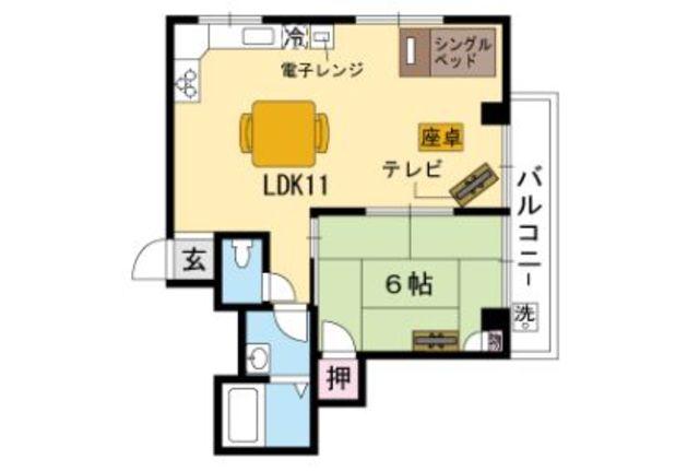 使いやすい1LDKのお部屋です。