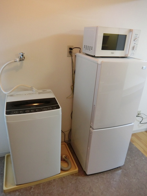 室内洗濯機、冷蔵庫、電子レンジ