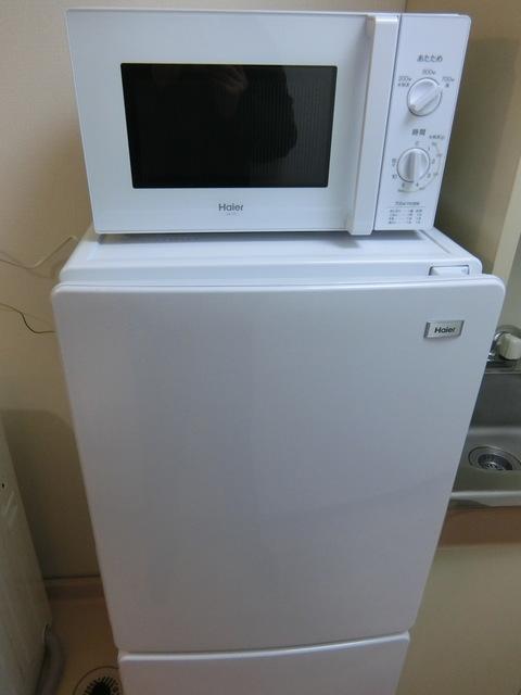 レンジ、冷蔵庫