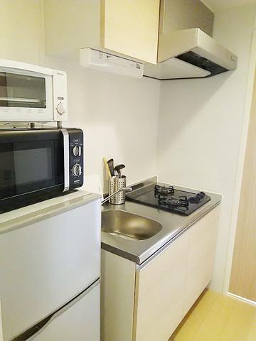 キッチン 冷蔵庫・トースター・電子レンジ付