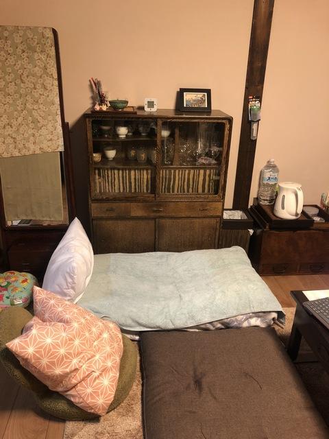 小さなお子様連れの場合、1階にお布団を敷く事も可能。
