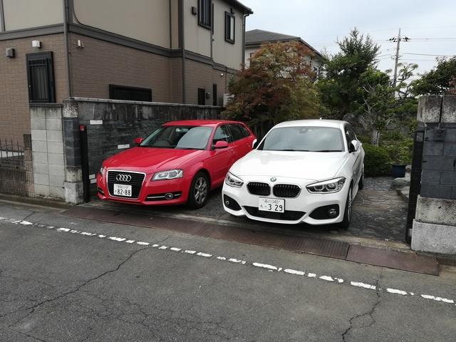 駐車場 最大2台まで駐車可能