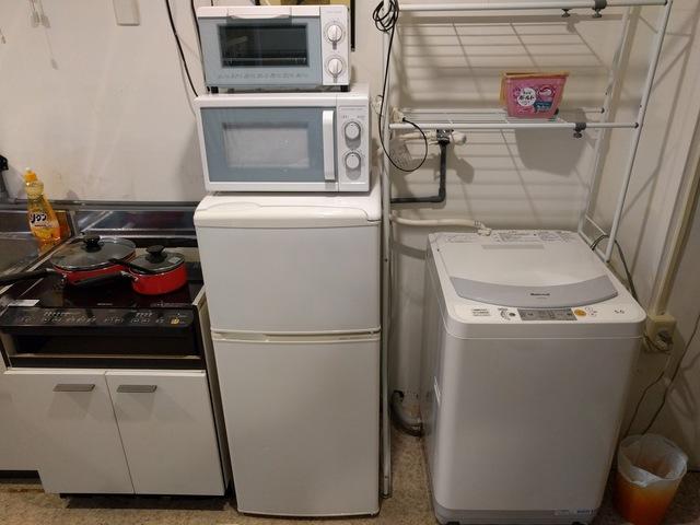 冷蔵庫+電子レンジ+オーブントースターがございます