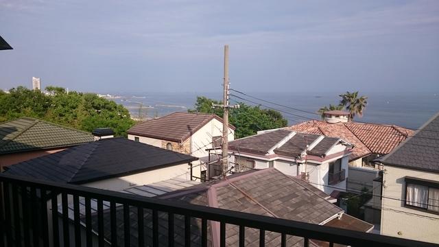 お部屋からみた昨年8月の眺望です