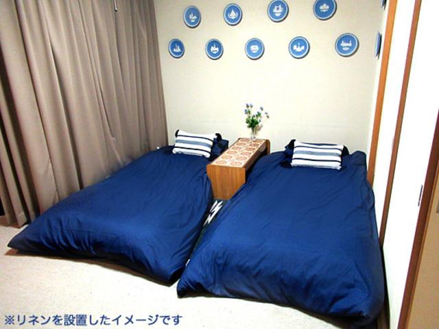 寝具を設置したイメージ