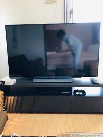 大きなテレビをみんなで観れます^ ^