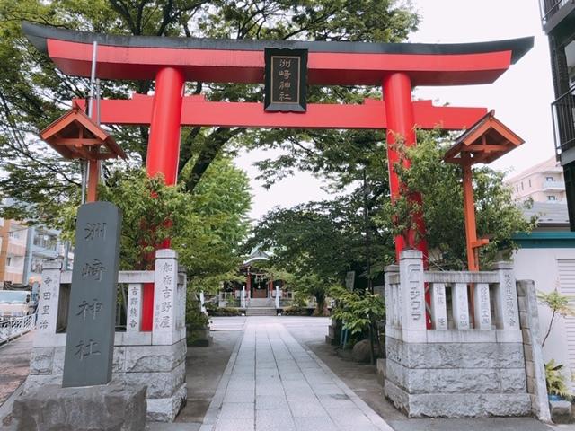 洲崎神社の横で駅前にしては静かです