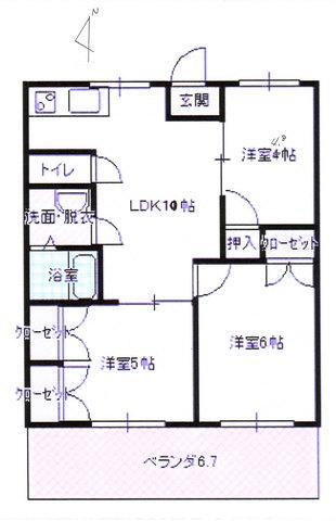 3LDKのお部屋です。3名で利用すれば、各自個室利用可能です