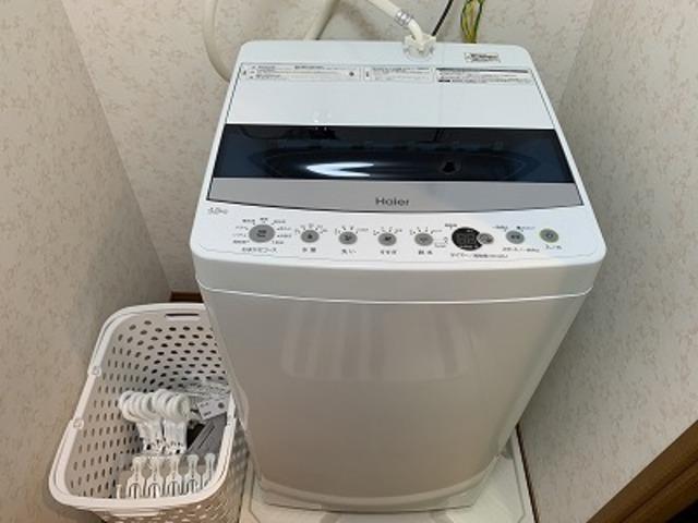全自動洗濯機4.7キロ 洗濯カゴ 洗濯バサミ(大 小)