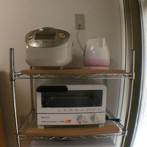 炊飯器、トースター、電子レンジ